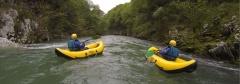 Canoas en el Río Deva